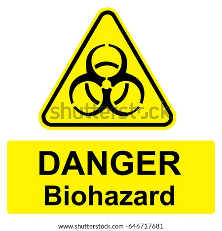 Biohazard Safety Sign Yellow Sign Vector Stock Vector Royalty Free