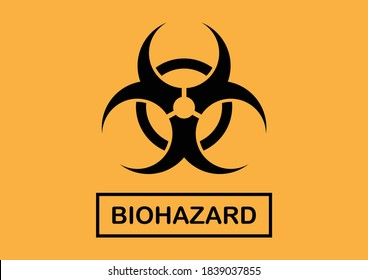 Biohazard sign for biosecurity biosafety level