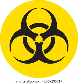 The Biohazard sign logo circular