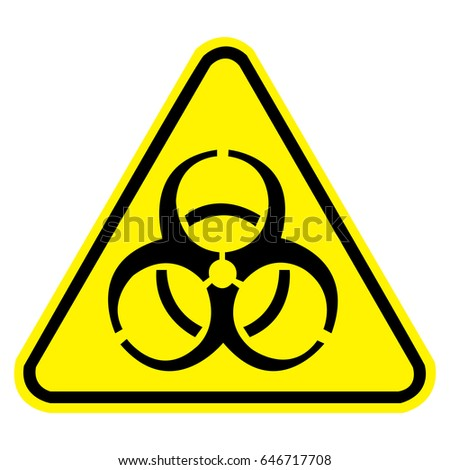 Biohazard Sign Safety Sign Vector Illustration Stock Vector Royalty
