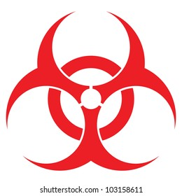 biohazard sign, vector format, for health industry concepts.