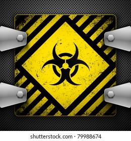 Bio-hazard sign. Vector illustration.