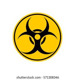 Biohazard sign. Warning radiation hazard. Warning sign viral pollution