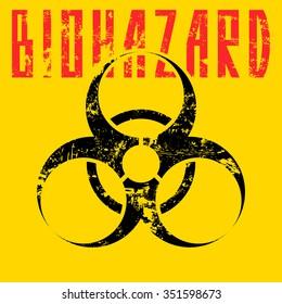 biohazard sign.vector illustration.