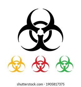 biohazard symbol, caution icon, dangerous sign