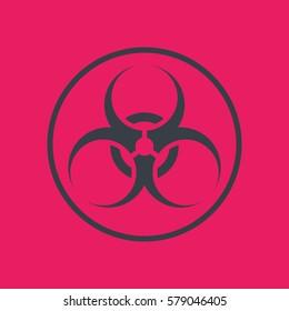 biohazard symbol in circle, vector illustration