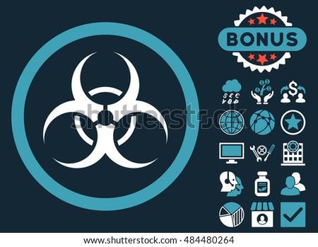 Biohazard Symbol Icon Bonus Pictures Vector Stock Vector Royalty
