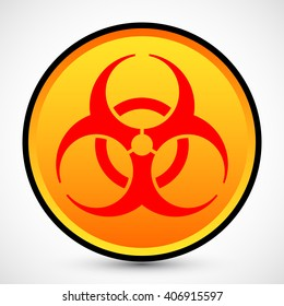 Biohazard Symbol on background. Isolated vector illustration of biohazard symbol. Icon can be used as a poster, wallpaper, t-shirt design, or webdesign icons.