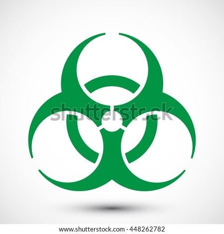 Biohazard Symbol On Background Isolated Vector Stock Vector Royalty