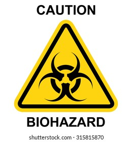 Biohazard symbol, sign of biological threat alert . Vector illustration