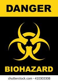 Biohazard symbol sign of biological threat alert . Vector illustration