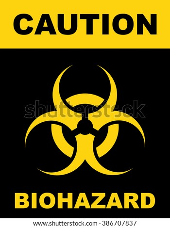 Biohazard Symbol Sign Biological Threat Alert Stock Vector Royalty