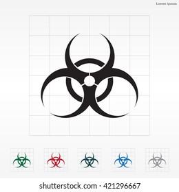 Biohazard symbol vector sign isolated