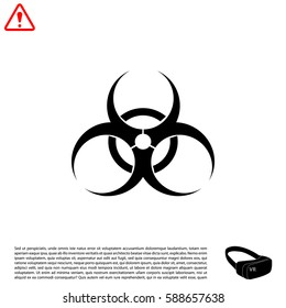 Biohazard symbol. vector sign isolated