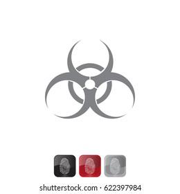 Biohazard symbol. vector sign isolated