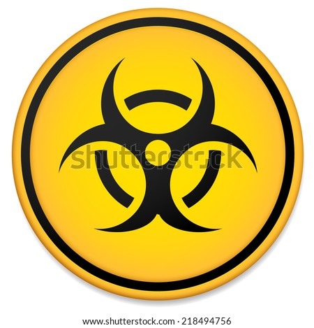 Biohazard Symbol Virus Infection Bacteria Contagion Stock Vector