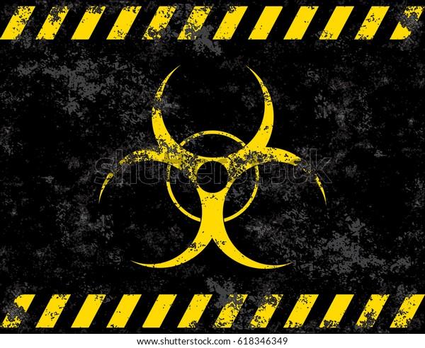 Biohazard Symbol Virus Infection Bacteria Contagion Stock Vector Royalty Free 618346349