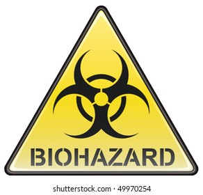 Biohazard vector triangle sign