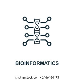 Bioinformatics vector icon illustration. Creative sign from science icons collection. Filled flat Bioinformatics icon for computer and mobile. Symbol, logo vector graphics.
