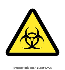 Biological hazard. Danger Virus sign. Triangle warning symbol. Stock vector illustration.
