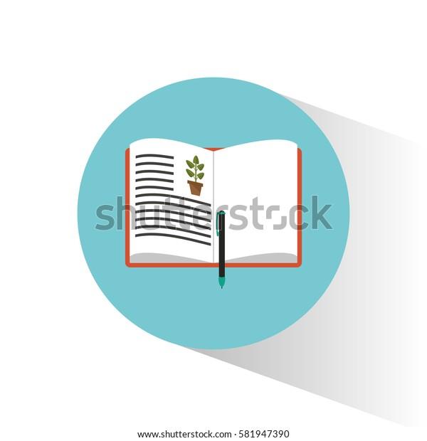biology book learning pen school