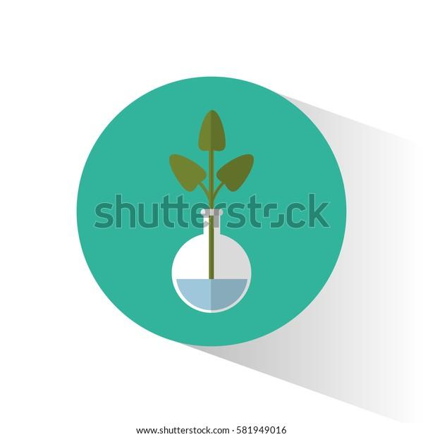 biology plant testt tube school icon