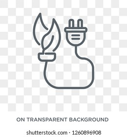 biomass energy icon. Trendy flat vector biomass energy icon on transparent background from general  collection. High quality filled biomass energy symbol use for web and mobile