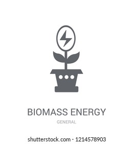 biomass energy icon. Trendy biomass energy logo concept on white background from General collection. Suitable for use on web apps, mobile apps and print media.