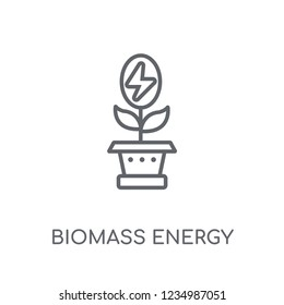 biomass energy linear icon. Modern outline biomass energy logo concept on white background from General collection. Suitable for use on web apps, mobile apps and print media.