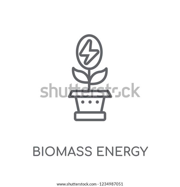 Biomass Energy Linear Icon Modern Outline Stock Vector