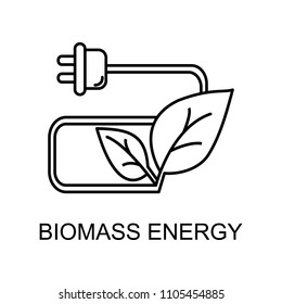 biomass energy outline icon. Element of enviroment protection icon with name for mobile concept and web apps. Thin line biomass energy icon can be used for web and mobile on white background