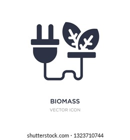 biomass icon on white background. Simple element illustration from Technology concept. biomass sign icon symbol design.