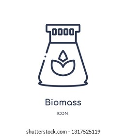 biomass icon from technology outline collection. Thin line biomass icon isolated on white background.