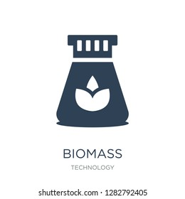 biomass icon vector on white background, biomass trendy filled icons from Technology collection, biomass vector illustration