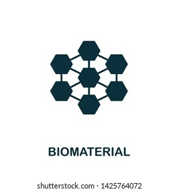 Biomaterial vector icon illustration. Creative sign from biotechnology icons collection. Filled flat Biomaterial icon for computer and mobile. Symbol, logo vector graphics.