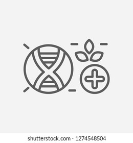 Biomedicine icon line symbol. Isolated vector illustration of  icon sign concept for your web site mobile app logo UI design.