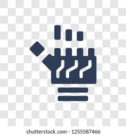 Bionic arm icon. Trendy Bionic arm logo concept on transparent background from Artificial Intelligence collection