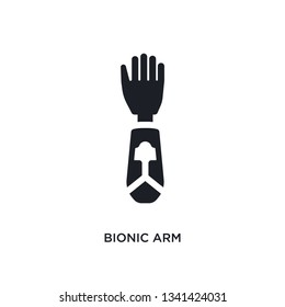 bionic arm isolated icon. simple element illustration from artificial intellegence concept icons. bionic arm editable logo sign symbol design on white background. can be use for web and mobile