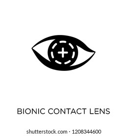 Bionic contact lens icon. Bionic contact lens symbol design from Future technology collection.