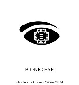 Bionic eye icon. Bionic eye symbol design from Future technology collection.