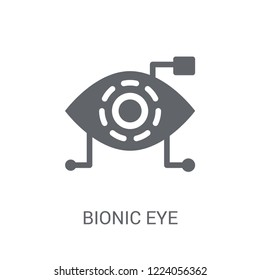 Bionic eye icon. Trendy Bionic eye logo concept on white background from Artificial Intelligence collection. Suitable for use on web apps, mobile apps and print media.