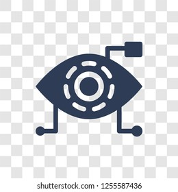 Bionic eye icon. Trendy Bionic eye logo concept on transparent background from Artificial Intelligence collection