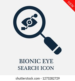 Bionic eye search icon. Editable Bionic eye search icon for web or mobile.