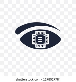 Bionic eye transparent icon. Bionic eye symbol design from Future technology collection.