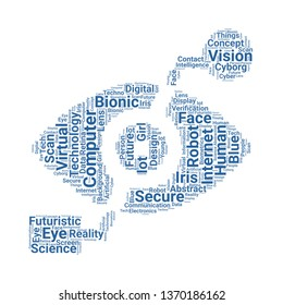 bionic eye word cloud. tag cloud about bionic eye