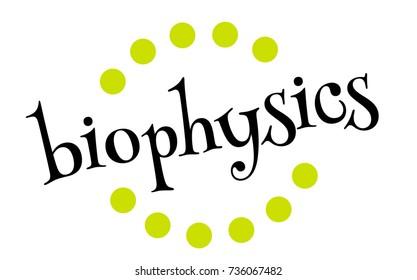 BIOPHYSICS sticker. Authentic design graphic stamp. Original series