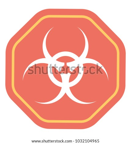 Biosafety Symbol Known Be Biological Hazard Stock Vector Royalty