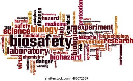 Biosafety word cloud concept. Vector illustration