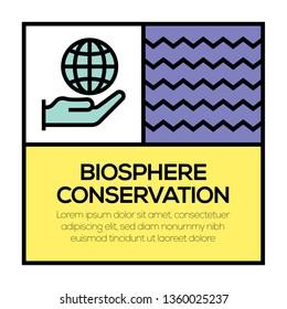 BIOSPHERE CONSERVATION ICON CONCEPT