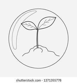Biosphere icon line element. Vector illustration of biosphere icon line isolated on clean background for your web mobile app logo design.